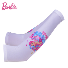 Barbie Breathable Cool Arm Warmers Women Summer Ice Silk Sleeve for Girls Quick Dry Arm Sleeves Children(China)