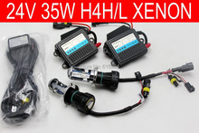Free shipping 24V,35W,H4H/L High low Bi xenon HID headlight kit,3000k,4300k,6000k,8000k,10000k,truck and so on