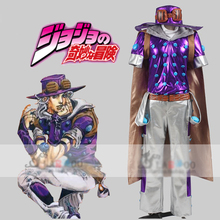 JoJo's Bizarre Adventure Steel Ball Run Gyro Zeppeli Cosplay Costume full set with cloak and hat(China)