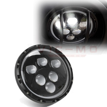 1 Pair 7 Inch 60W LED Driving Round Headlights With H4 To H13 Halo Angel Eyes For Jeep Wrangler JK TJ YC100975 Land Rover Hummer
