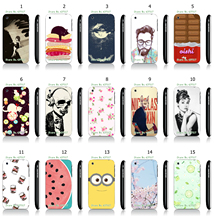 Cool Style Flower Fruit Designs White Hard Plastic Case Cover for iPhone 3 3GS