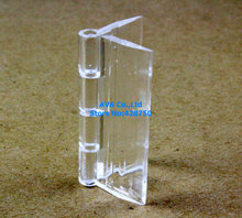 10 Pieces Clear Acrylic Plastic Hinge Plexiglass Hinge / Size: 37x45mm(China)