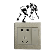 Sports Hockey Game Light Switch Sticker Decor Door Wall Decal 5WS0462