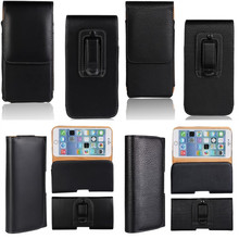 Holster Case For iPhone 7 6 6S Plus Cover Belt Clip Leather Pouch Bag Phone Coque Etui For iPhone 7 Plus SE 5 S 5S 4 4S 3GS Capa(China)