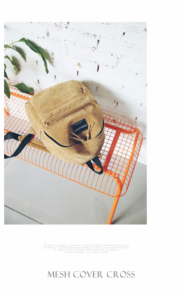 2016 New Women Backpack Preppy Style Suede Backpacks Teenage Girls School Bags Vintage Rivet Travel Backpack Burgundy Gray Black (52)