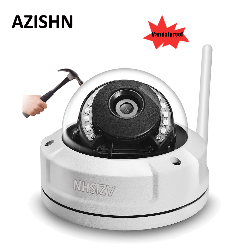 AZISHN anti-vandal 720P 960P 1080P Wireless CCTV IP Camera P2P Motion Detect Email Alert Wifi Wired With SD Card Slot Max 128G<br>