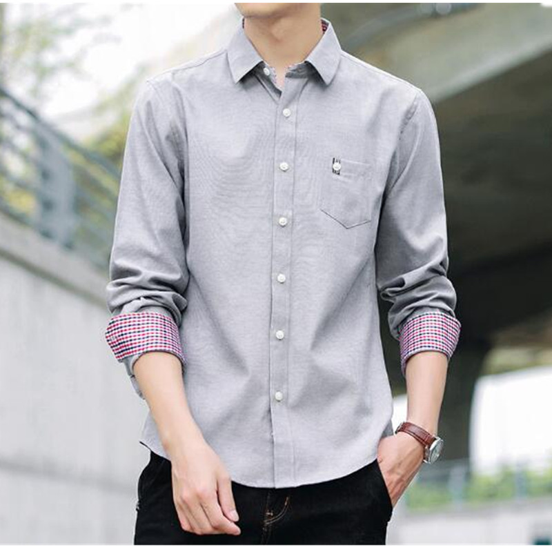 Men's shirt spring and autumn long-sleeved slim shirt fashion casual new shirt