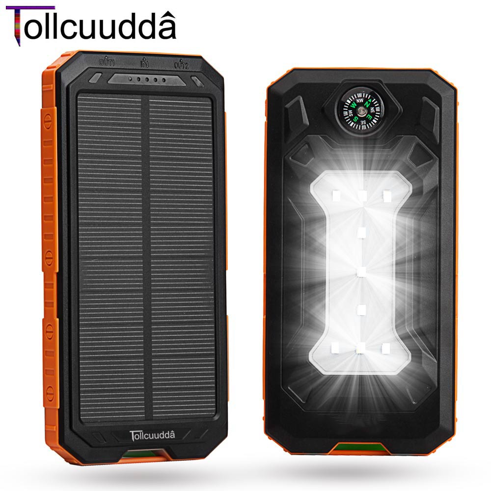 Tollcuudda Solar Mobile Phone Power Bank Cell Pove...