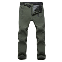 2017 New Men's Winter Softshell Fleece Pants Outdoor Thermal Waterproof Hiking Camping Trekking Skiing Male Sport Trousers MA152