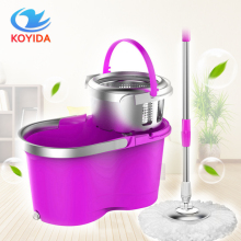 KOYIDA Portable Magic spin Mop bucket double-drive hand pressure rotating spin Mop head stainless household floor cleaning(China)