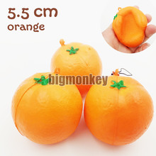 NEW 20PCS/LOT 5.5CM slow rising Fruit orange squishy charm toy Mobile phone Pendant