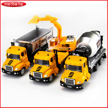 1:64 Alloy Diecast Car Models Engineering Cars Juguetes Brinquedos Toys for Boys Children Gift Metal Garbage Truck Fire Engine(China)