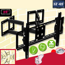 "32-65"" Heavy Duty Patent Wall Corner LED LCD TV Mount Flexible Full Motion TV Swing Arm Bracket Ceiling Mount Max.Loading 100kgs(China)"