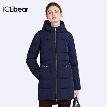 ICEbear 2016Пуховики женские зимние Модель пуховика красивая Пальто женское зимнее Куртка девушек Дизайн кармана шикарный16G675
