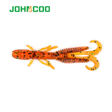 Soft Shrimp Lure Soft Baits Pesca Isca MINI 5.8cm 1.2g Fly Fishing Lure Artificials Bait Rubber Fishing Lures(China)