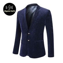 Mens Corduroy Suit Mens Blazer Slim Fit Suit Jacket Single Breasted Long Sleeve Spring Autumn Outwear Fashion Coat Homens Blazer(China)