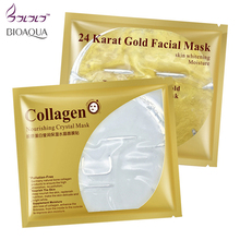 24k gold facial mask / collagen essence face mask crystal masks repair dry skin whitening hyaluronic acid moisture its skin care(China)