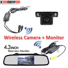 3 in 1 Auto Wireless Parking 4.3 Digital TFT LCD Mirror Car Mirror Monitor with HD CCD Mini Car Rear view Camera Back up System(China)