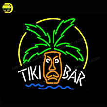 2017 Neon Sign Tiki Bar Logo Neon Light Glass Arcade Game Room neon signs Cool Lamp Affiche advertise handcraft Bright 24x24(China)