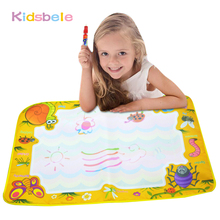 Children Aqua Doodle Drawing Toys Mat 74*49cm Big Size Magic Pen Early Educational Kids Toy 1 Mat+2 Pen For Children Toys Mat