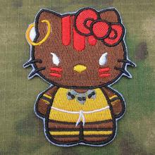 Hello Kitty Street Fighter Kitty DHALSIM Military Tactics Morale Embroidery patch B3328