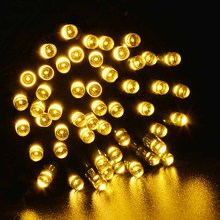 100 LED Outdoor Warm White Solar Lamps String Lights Fairy Holiday Christmas Party Garlands Garden Waterproof - LedWorld Manufacturer store