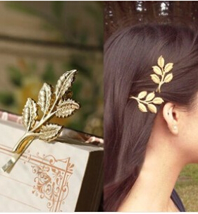 TS275 Hot New Fashion Wedding Hair Accessories Olive Branches Leaves Beautiful Bride Hairpin Side Folder Jewelry(China (Mainland))