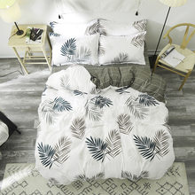 Luxury Leaves Bedding Sets 3/4pcs Geometric Pattern Bed Linings Duvet Cover Bed Sheet Pillowcases Cover Set(China)