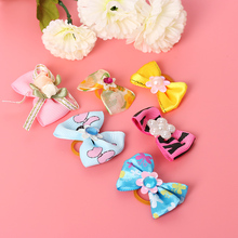 5 PCS Cute Elastic Cat Puppy Little Flower Bows Pet Hair Band Hair Rope Ring Dog Grooming Cute Lovely Pet Hair Accessories