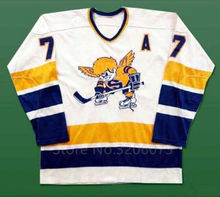 Wayne Connelly Minnesota Fighting Saints White Hockey Jersey Embroidery Stitched Customize any number and name Jerseys(China)