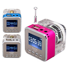 Mini Digital Speaker Portable Music MP3/4 Player Disk Speakers with Micro SD/TF USB FM Radio
