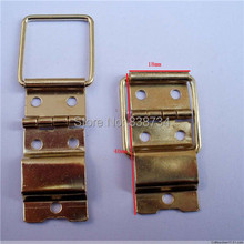 100pcs 18*40*0.5mm Steel with Brass Plated Packing Box Accessories Hinge Connecting Wire Wooden Wine Hardware(China)