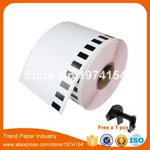 40 x Rolls Brother DK-22205 - Thermal paper - Roll (6.2 cm x 30.48 m) free send one reusable plastic frame