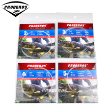 10 Pieces PROBEROS Tapered Leader Fly Fishing Line 9FT 0X-6X Nylon Fly Fishing Leader Clear Color