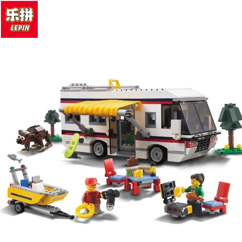 3117 792pcs Vacation Getaways Camper Summer Home Architect 3 In 1 Building Block Compatible 31052 Brick Toy<br>