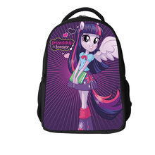 2017 new style cotton my little pony child school bags for Teenagers Girls Backpack Kids School Bags Horse Bag Child Mochila(China)