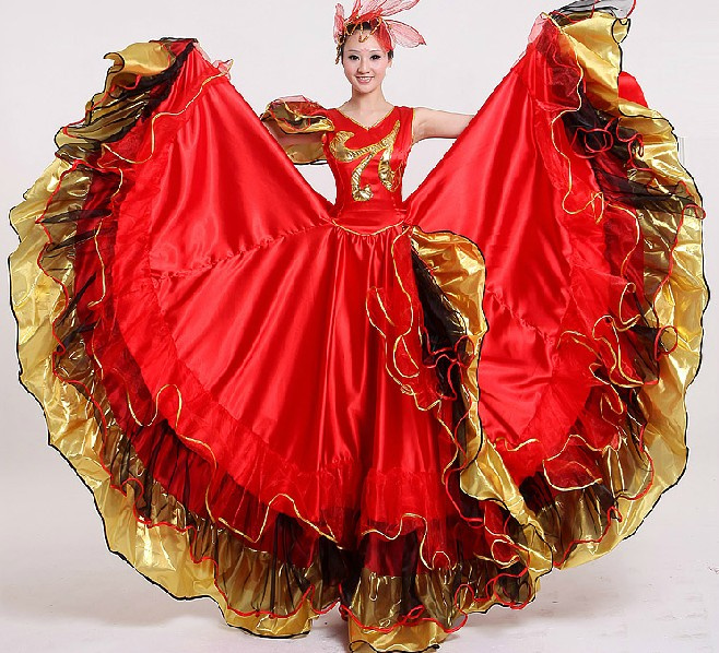 Women Flamenco Dance Dress Adult Paso Doble Dance Dress Flamenco Costume Girl Flamenco Dancing Dresses