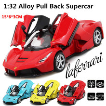 Sports car Racing model, 1:32 scale Alloy Pull Back cars,Diecast World cars gift,Scissor doors,free shipping