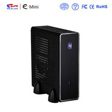 REALAN MINI ITX HTPC STEEL CASE  E-C3 SGCC 0.8mm MINI-ITX M/B USB2.0 1 COM 1 WIFI 4 4010FAN BLACK AND SILVER color