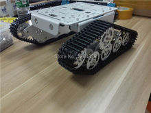T300 Silver(White) Version Aluminum alloy smart tank car chassis/experiment platform,servos,controller,robot install interface(China)