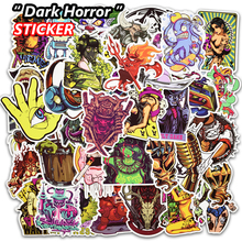 50 Pcs Dark Horror Stickers for Luggage Laptop Skateboard Fridge Bick Motorcycle Car Styling Home Decor Deal Waterproof Sticker(China)