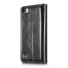 For IPhone 5s SE Case PU Oil Wax Texture Leather Flip Wallet Cover Multifunctional Phone Bags Free Shipping