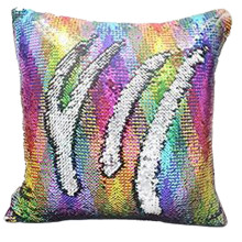 Multicolor Glitter Sequins Throw Pillow Case Cafe Home Decor Cushion Covers 40cmX40cm Pillowcases Decorative Sequins(China)