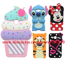 For Samsung Galaxy J3 Case Cute Minnie Hello Kitty Stitch Lips Cupcakes Pig Rabbit Phone 3D Cases Cover For Samsung J3 / J3 2016