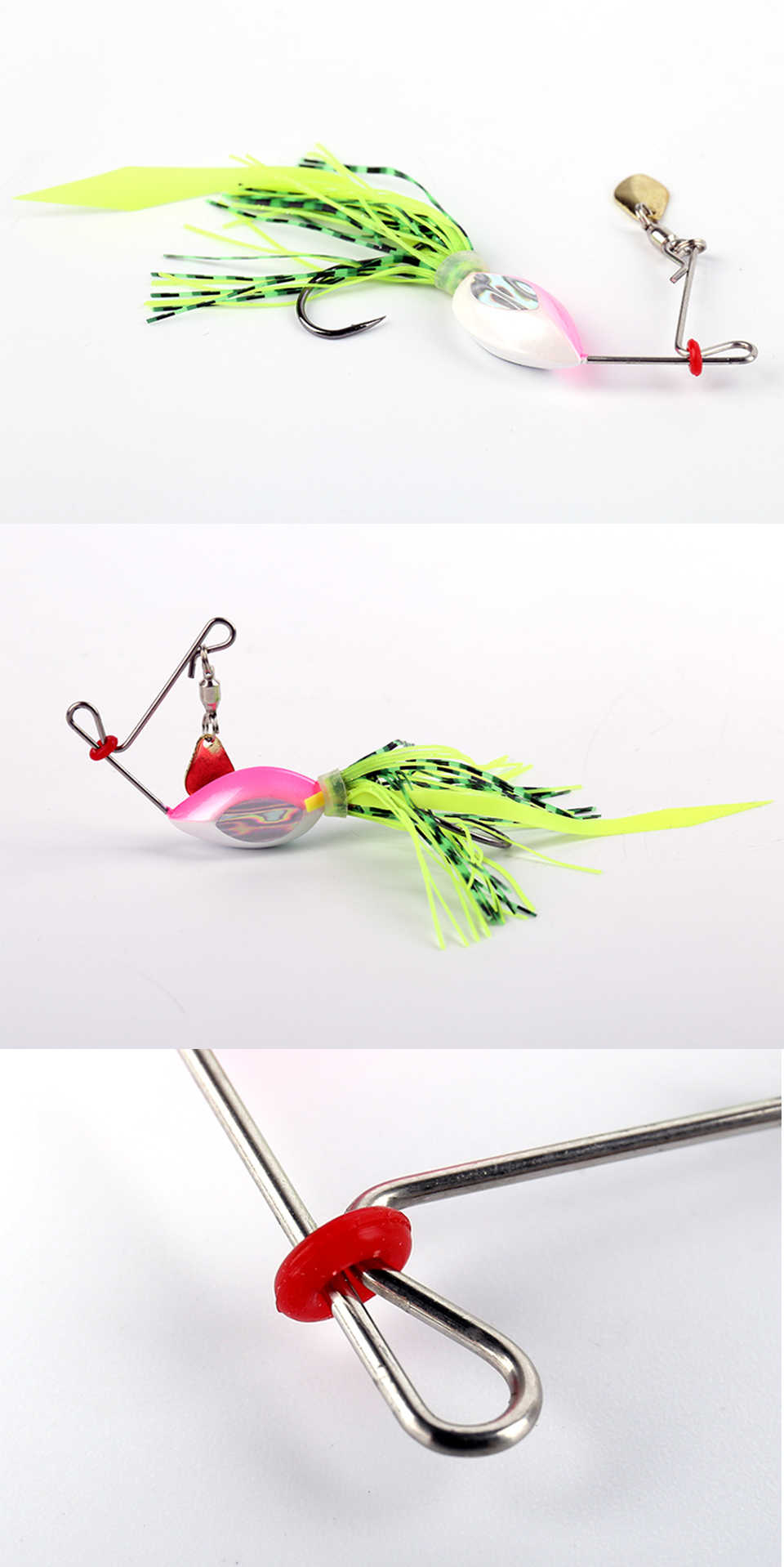 Kingdom Bei Xuan&Spinner Baits Fishing Lures 1pcsbag Hard Bait 6g 13g Rotating Sequins Buzzbait Model 4003 Fishing Tackle       (1)
