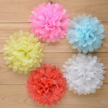 Wholesale 200pcs/lot Chiffon Lace Flower for girl hair bows headband hair acessories Free shipping FH35