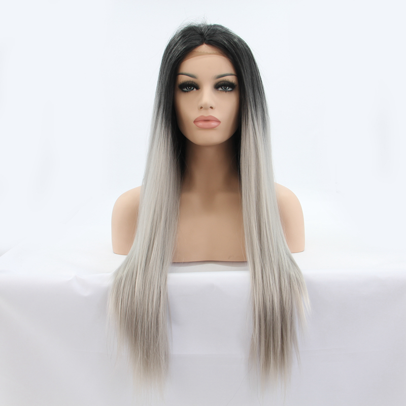 Top Quality Ombre Color Heat Resistant Lace Front Wigs For Beauty Women<br><br>Aliexpress