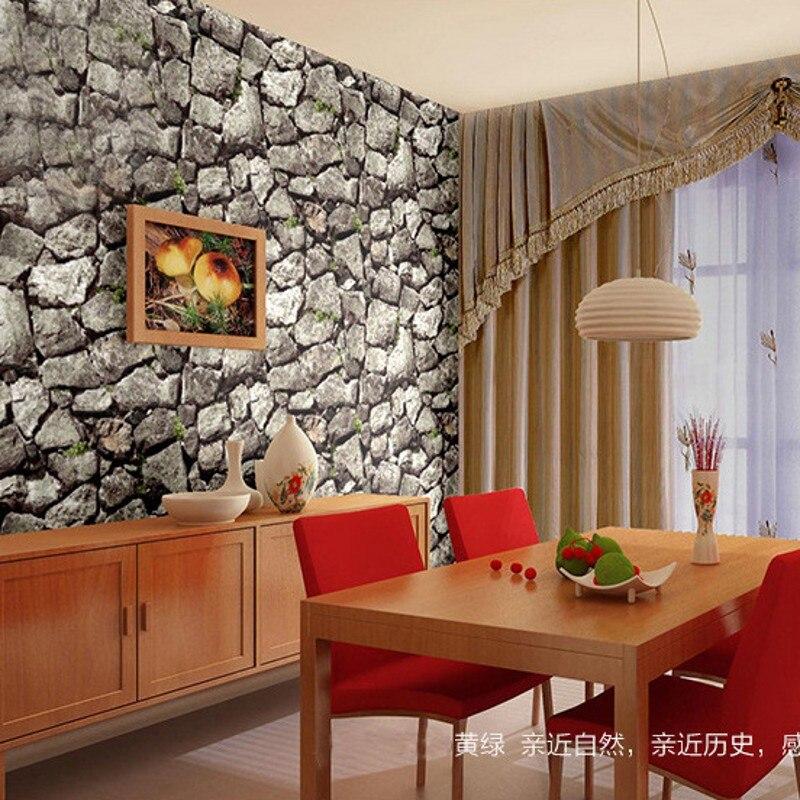 beibehang Environmental protection home stereoscopic 3D stone brick pattern brick waterproof PVC wallpaper living room wallpaper<br>
