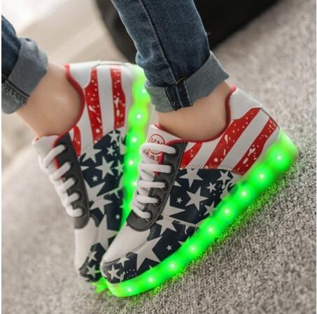 High quality Size 35-44 8 colors Unisex luminous led light shoes Men fashion USB charging Casual shoes Black white<br><br>Aliexpress