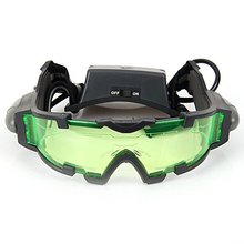 High Quality 25 Feet Green Night Vision Goggles with Flip-out LED Lights Adjustable Elastic Band Children Ski Goggles Glasses(China)